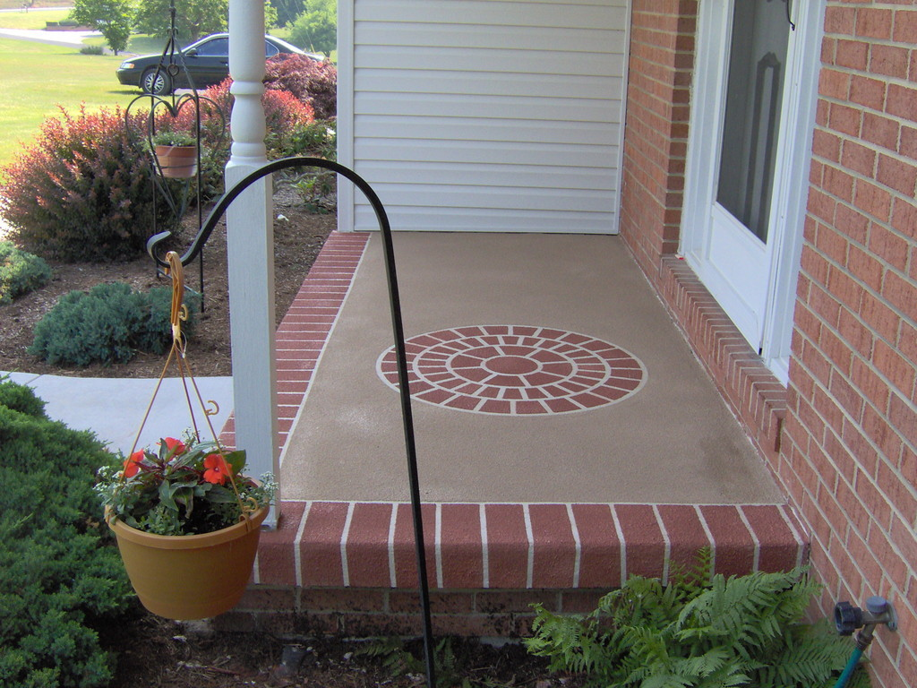 Brick Overlay On Concrete Front Porch Mycoffeepot Org